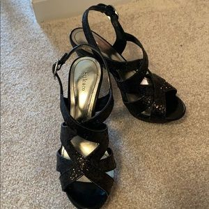 Style & Co black sequin stilettos 6m